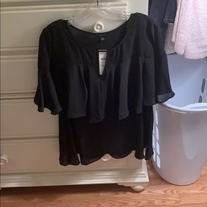 Ann Taylor Medium Black Blouse